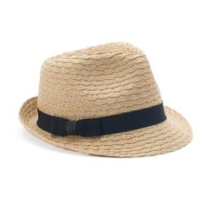Sonoma Crochet Straw Fedora Hat